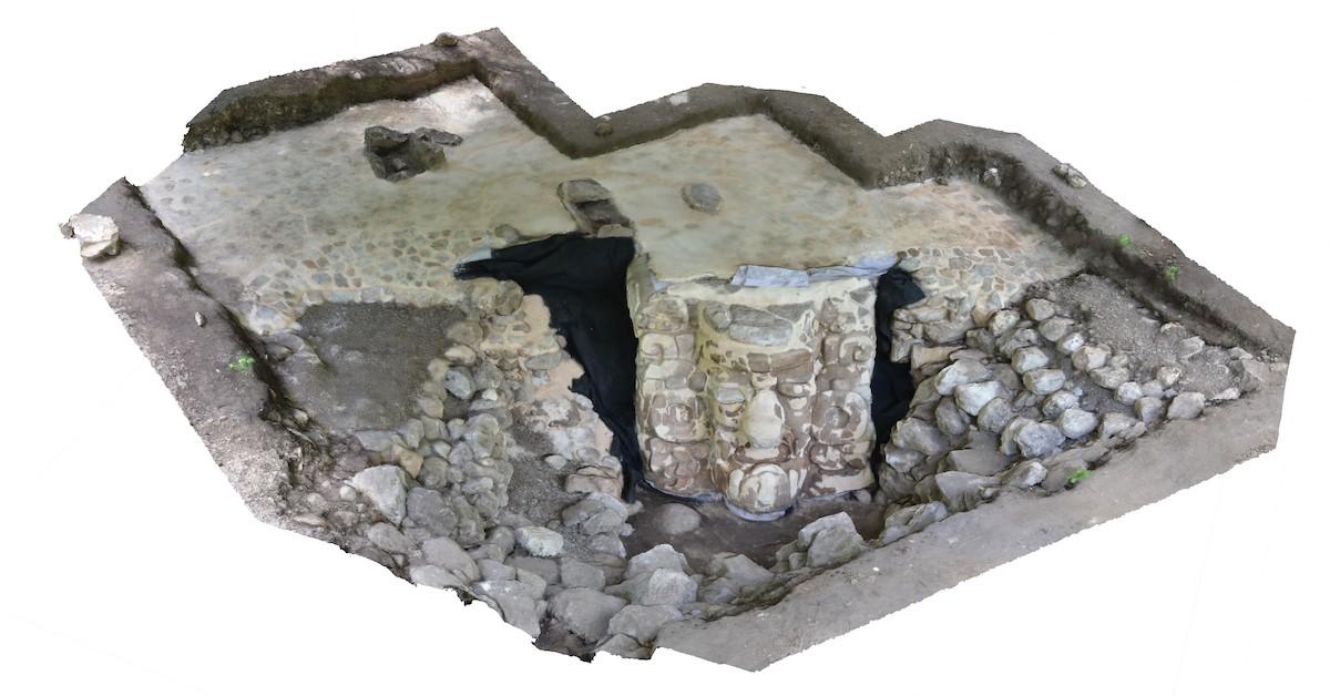 La obra se remonta al período preclásico de la antigua civilización maya, que duró desde el 300 a.C. al 250 d.C. (Foto: INAH)