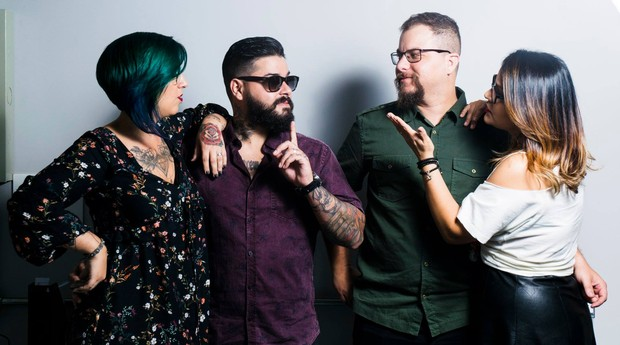 Fundadores do Bunker 27, negócio que reúne apaixonados por rock'n' roll (Foto: Reprodução/Facebook)