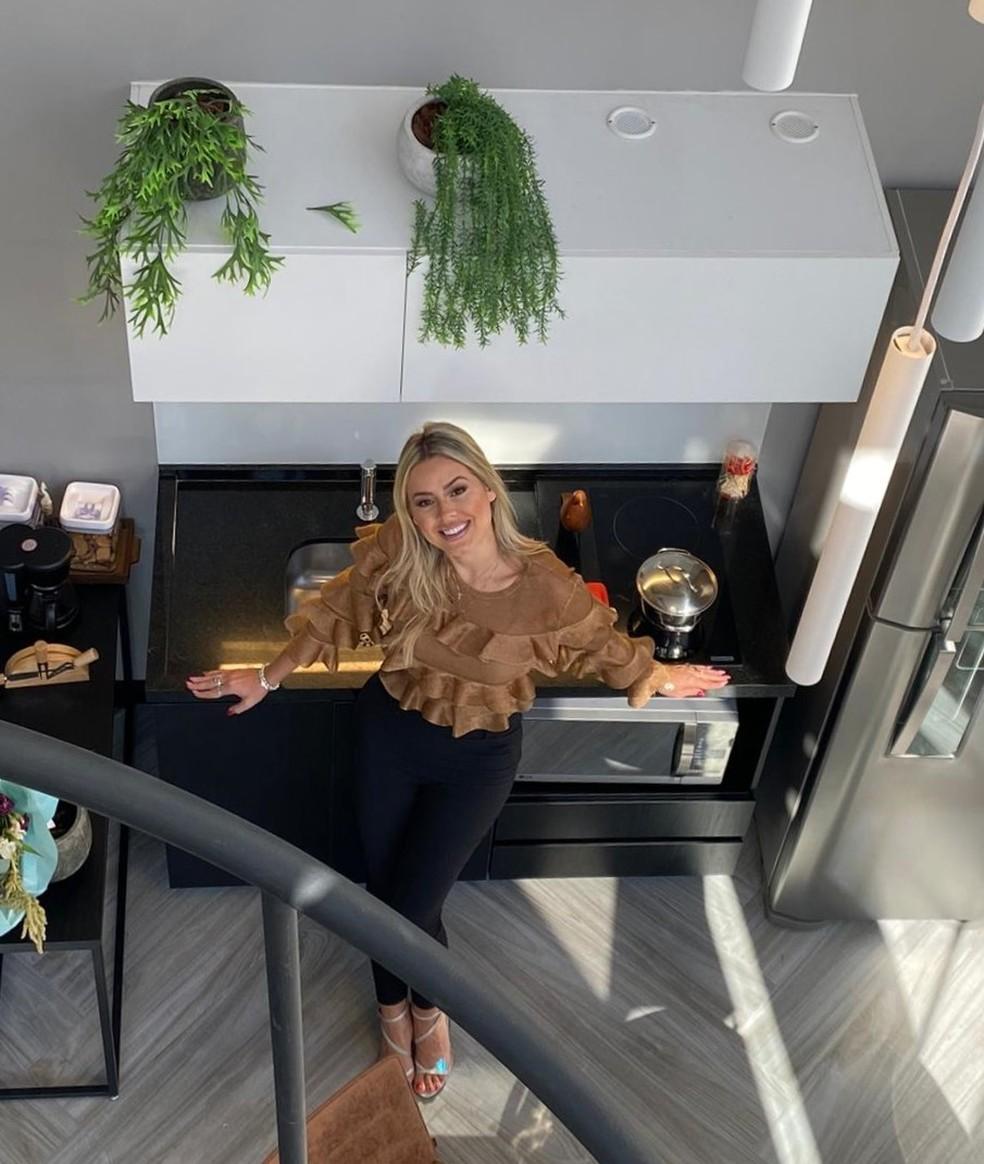 Bella conta que cozinhar é quase uma terapia para momentos de estresse — Foto: Arquivo pessoal