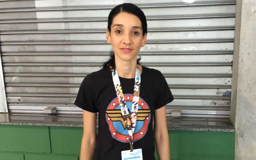 Sueli Santana, 40, é natural de São Paulo e veio participar da segunda edição do evento na Bahia (Foto: Itana Alencar/G1 BA)