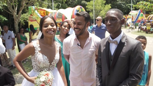 Casal realiza sonho de casar ao ar livre em pleno Parque da Cidade