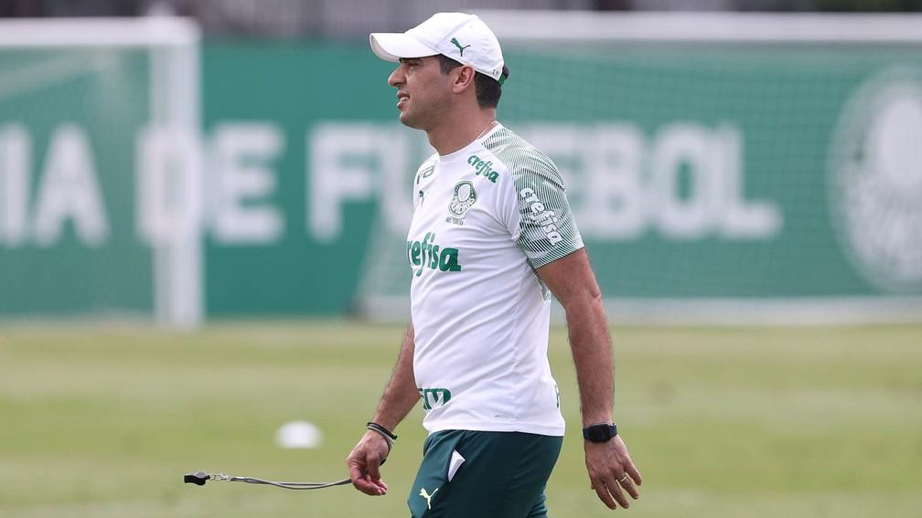 Abel Ferreira comandou treino do Palmeiras nesta terça — Foto: Cesar Greco\Palmeiras