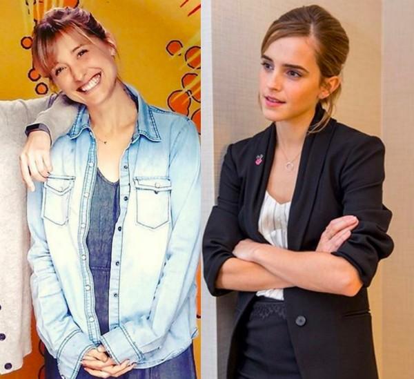 As atrizes Allison Mack e Emma Watson (Foto: Instagram)