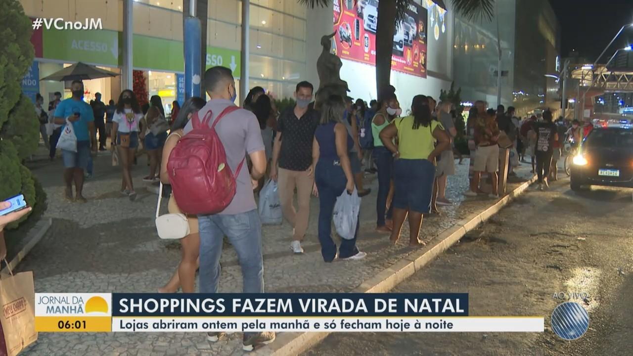 Shoppings de Salvador realizam 'viradão de natal'; confira movimento