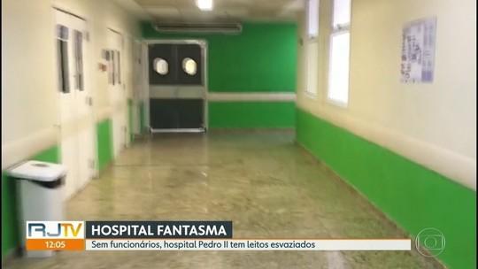 Sem funcionários, hospital no Rio tem salas desertas e leitos vazios