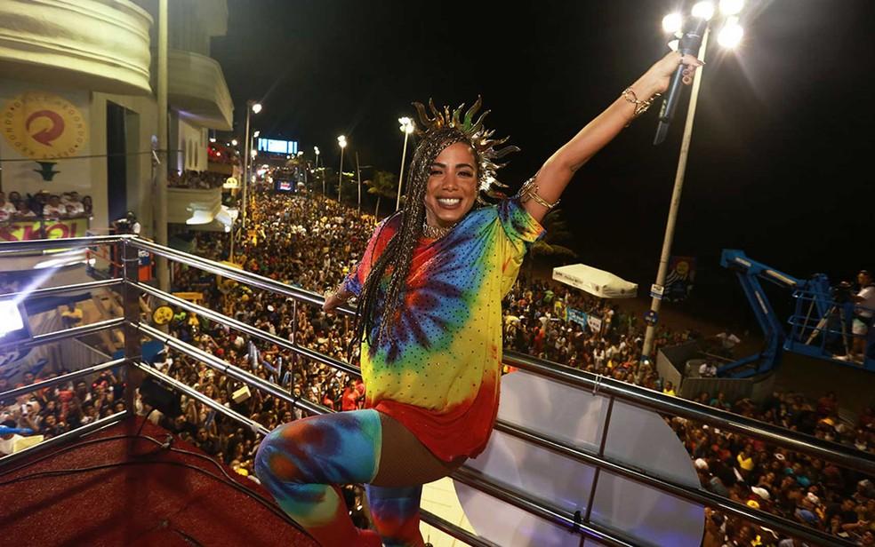 Anitta no carnaval de Salvador — Foto: Mauro Zaniboni /Ag Haack