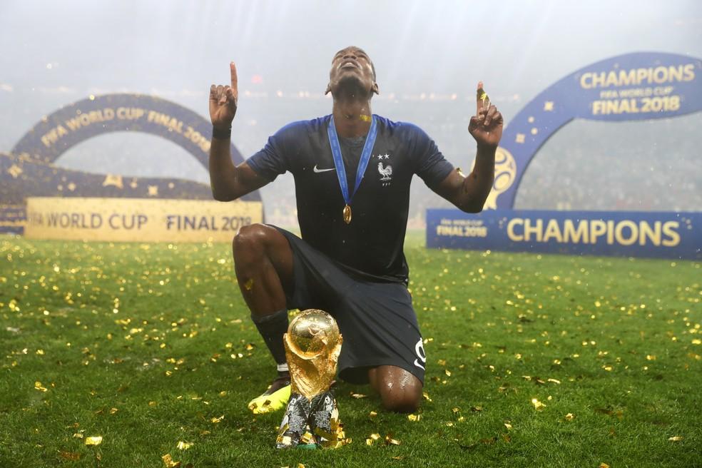 Pogba foi muito elogiado por Deschamps — Foto: Lars Baron / Getty Images