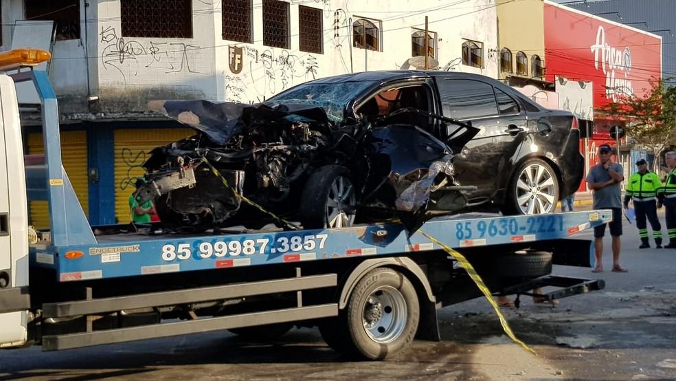 Veículo dirigido pelo idoso que acabou morrendo no acidente — Foto: Natinho Rodrigues