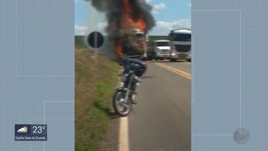 Incêndio em carreta destrói carga avaliada em R$ 400 mil na BR-369