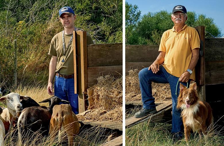 Border Collie - Leandro Santos e, ao lado, Manoel Ferreira com o cão Tyler   (Foto: Ronaldo Rufino)