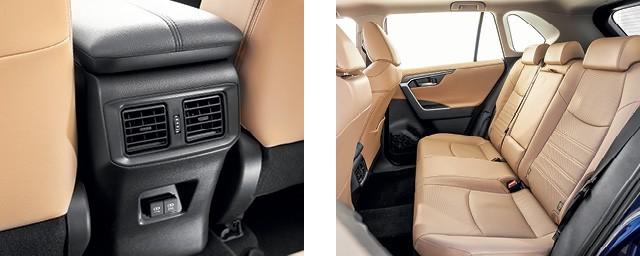 Toyota RAV4 SX hybrid - Atrás, os  ocupantes tem à disposição  duas saídas de ar  e também duas entradas USB (Foto: Leo Sposito)