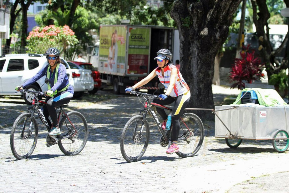 Pernambucana e uruguaia planejam chegar ao México cruzando oito países de bicicleta
