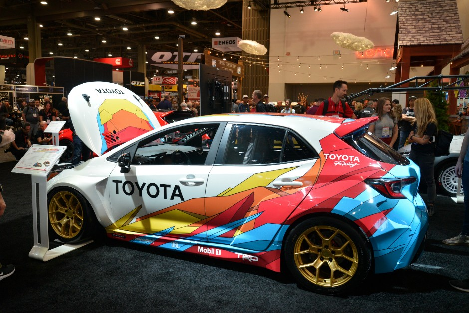 Papadakis Racing Toyota Corolla Hatchback no SEMA 2018 (Foto: Newspress)