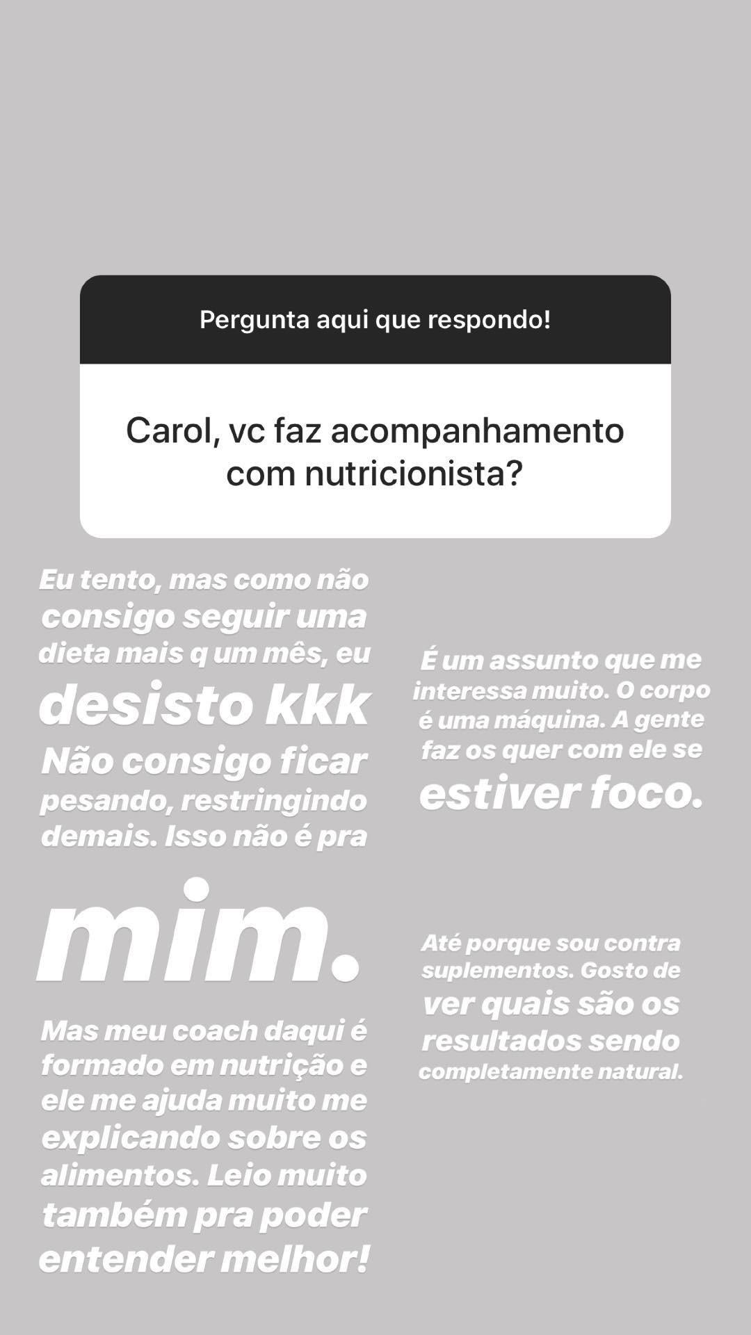 Carol Cabrino fala sobre transformação física (Foto: Reprodução/Instagram)
