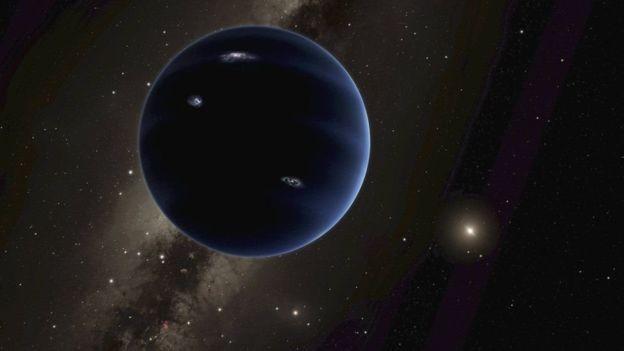O Planeta 9 é descrito como uma 'superterra' que está para além da órbita de Plutão (Foto: Reuters via BBC News Brasil)
