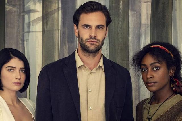 Eve Hewson, Tom Bateman e Simona Brown em 'Por trás de seus olhos' (Foto: Divulgação/Netflix)
