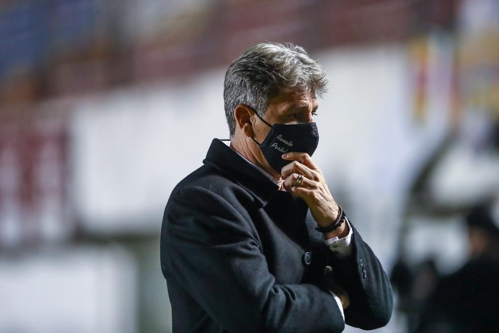 Renato Portaluppi pode fazer história novamente com o Grêmio — Foto: Lucas Uebel/DVG/Grêmio