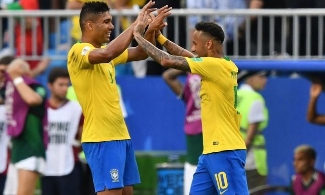 Neymar e Casemiro: amizade desde a seleção de base