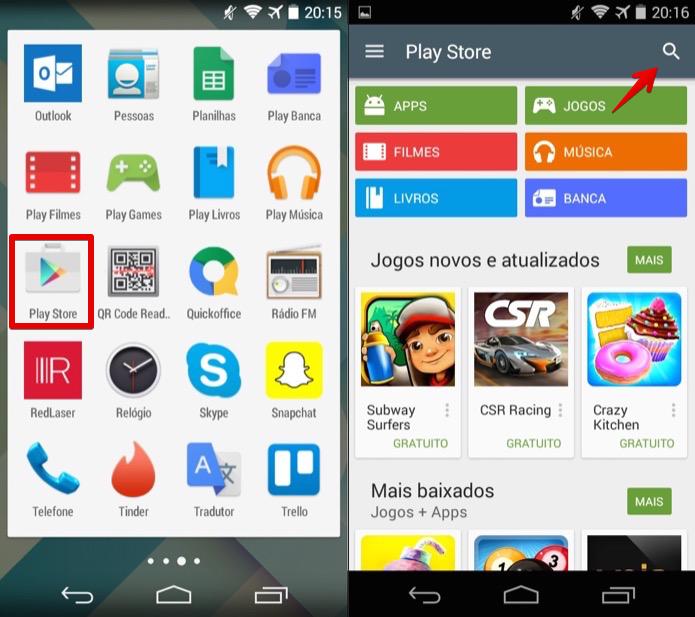 Abra a loja de aplicativos do Android (Foto: Reprodução/Helito Bijora)