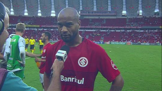 Rodrigo Moledo elogia trabalho coletivo do Internacional na vitória sobre o Bahia