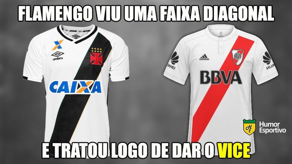 A eterna rivalidade com o Vasco também foi lembrada — Foto: Reprodução