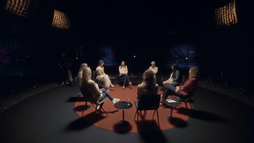 Primeiro encontro das mulheres vítimas do assédio de João de Deus — Foto: Globoplay