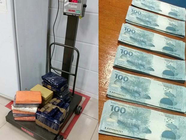 Polícia Federal apreende 25 quilos de cocaína e cédulas falsas no Ceará (Foto: Divulgação/Polícia Federal)