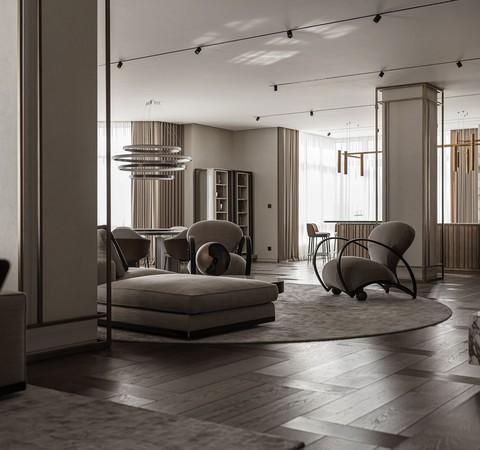 Apartamento de 343 m² tem décor sofisticado e móveis italianos