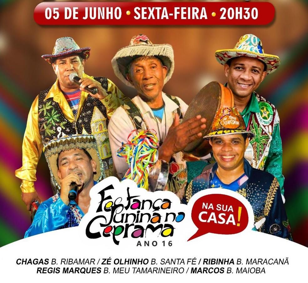 Cantadores de boi farão apresentações conjuntas em live nesta sexta-feira — Foto: Divulgação