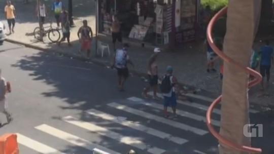 Carnaval antecipado de Santos acaba com pancadaria e bombas