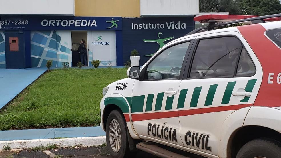 Polícia Civil realiza a 5ª fase da máfia das próteses — Foto: Mara Puljiz/TV Globo