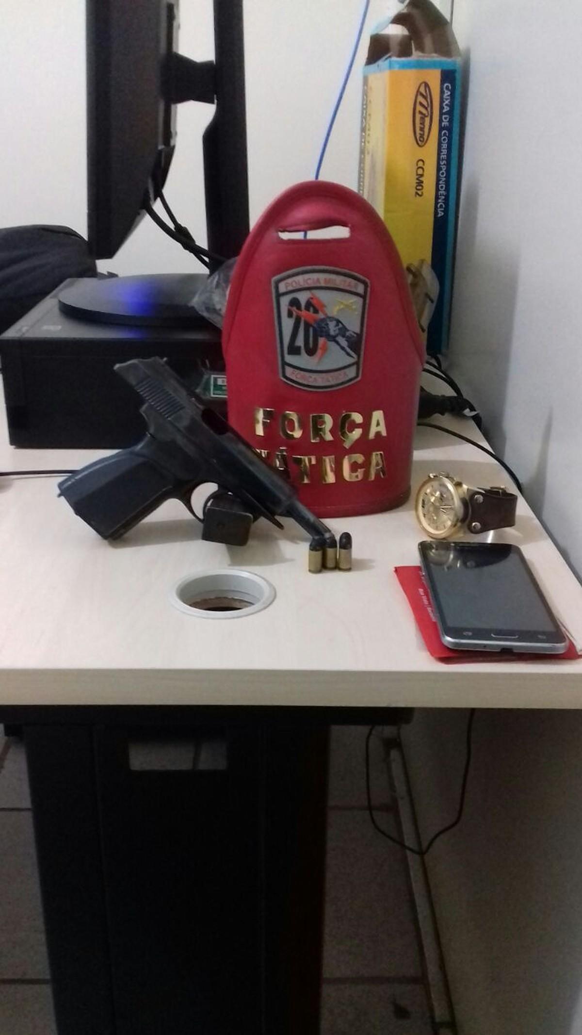 Jovem armado é detido por PM à paisana em oficina na zona Oeste Boa Vista