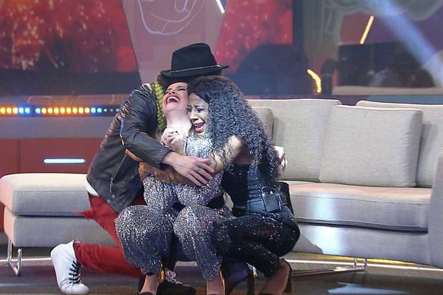 Fuoc, Juliet Freire und Camila De Lucas im BBB21-Finale (Foto: Globo)