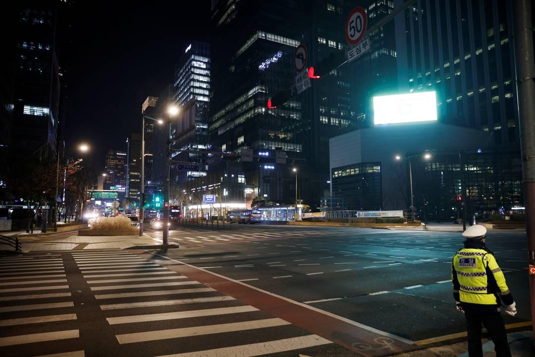 Coreia do Sul tem ruas vazias na comemoração do ano novo