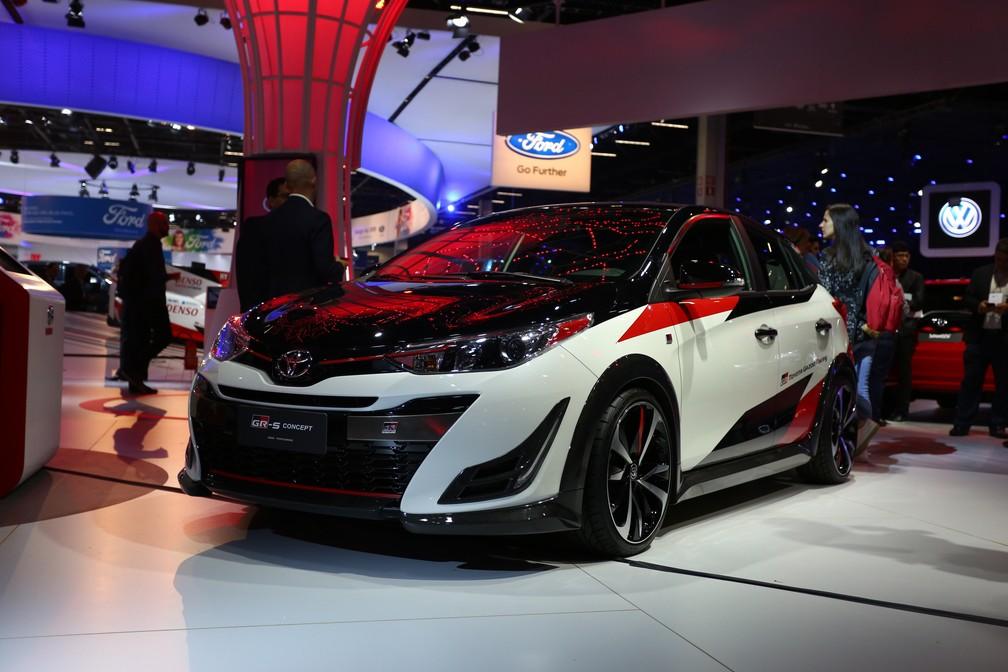Toyota Yaris GR-S no Salão do Automóvel — Foto: Marcelo Brandt/G1