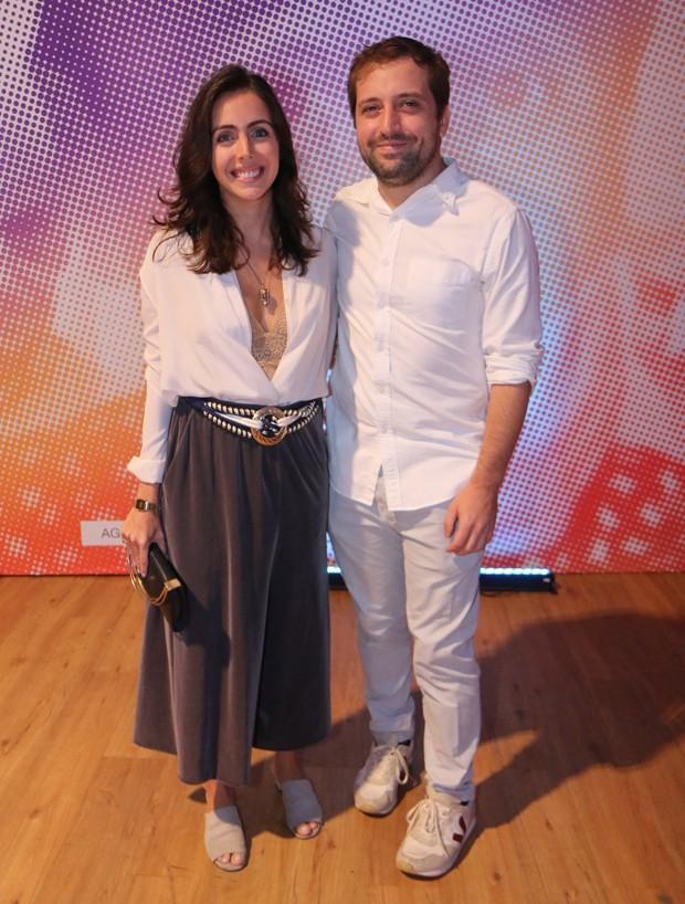 Gregório Duvivier e Giovanna Nader (Foto: Daniel Pinheiro/AgNews)