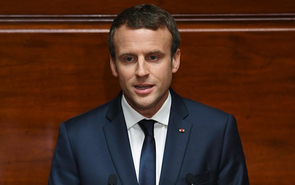O presidente da França, Emmanuel Macron (Foto: Eric Feferberg/Pool/AFP)