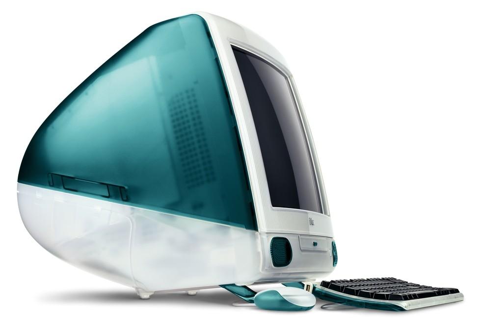 Primeiro iMac G3 vinha na cor azul Bondi (Foto: Divulgação)