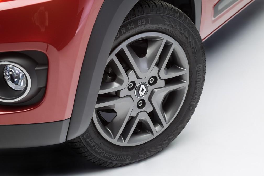 Renault Kwid tem 3 parafusos nas rodas, em vez de 4 (Foto: Divulgação)