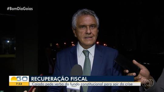 Caiado se encontra com Bolsonaro e pede dinheiro de fundo para quitar dívidas