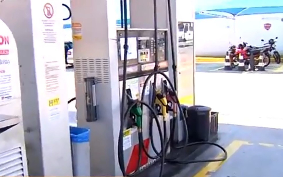 Cerca de 60% dos postos já não têm etanol em Goiânia (Foto: TV Anhanguera/ Reprodução)