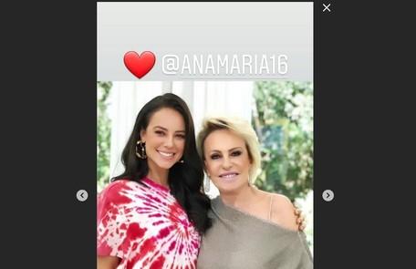 Paolla Oliveira compartilhou foto com a apresentadora Reprodução/Instagram