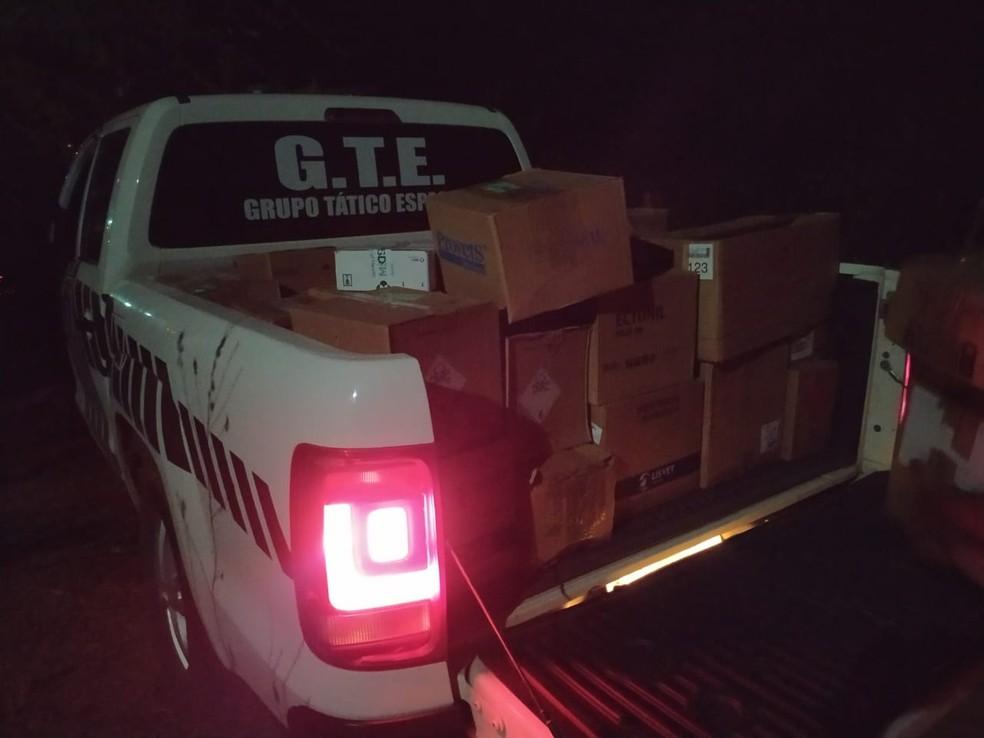 Polícia Civil recupera carga roubada avaliada em R$ 200 mil — Foto: Polícia Civil/divulgação