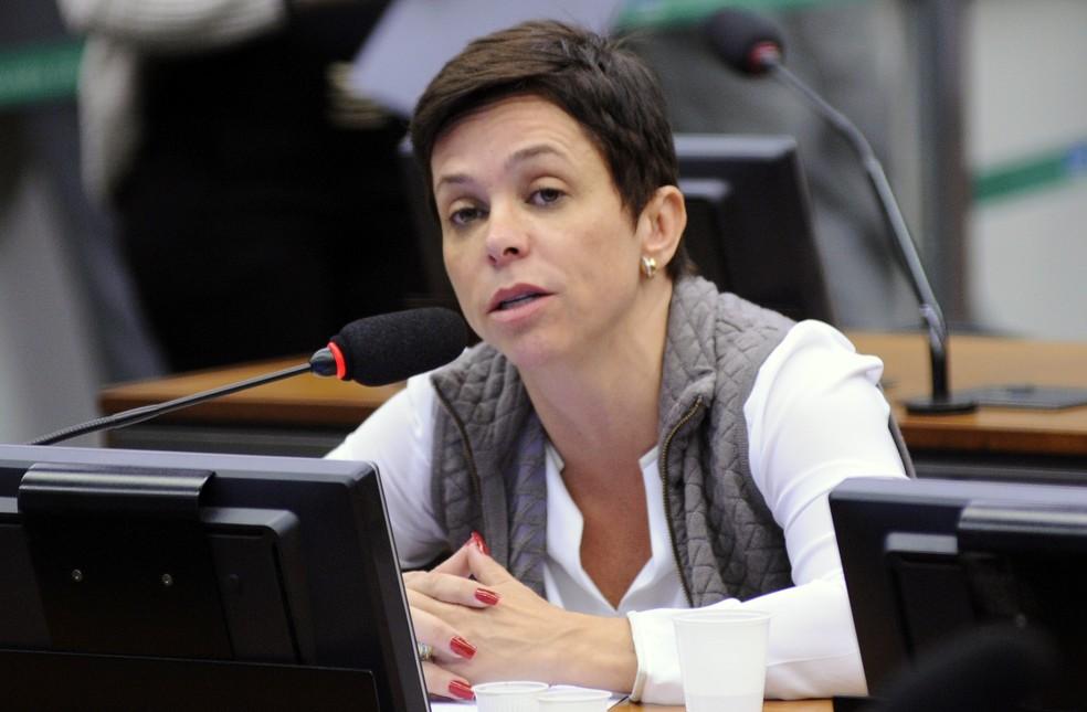 Cristiane Brasil (PTB - RJ) durante reunião de comissão da Câmara em maio de 2017  (Foto: Lúcio Bernardo Junior/Câmara dos Deputados)