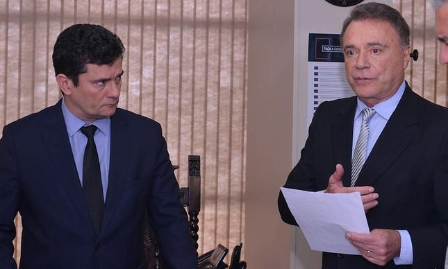 Sergio Moro e Alvaro Dias