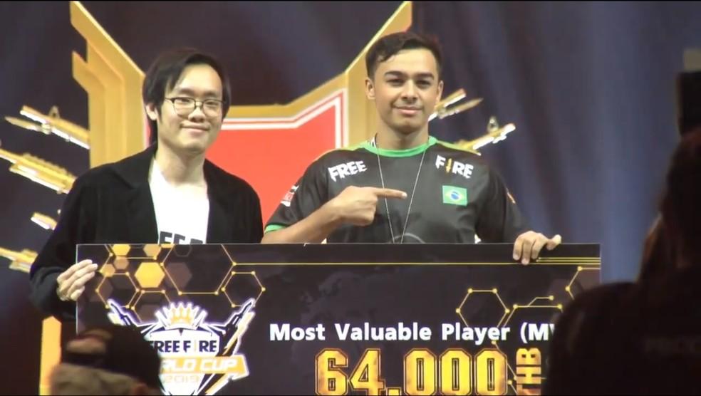 Apesar do título da EVOS, o brasileiro Kronos, da GPS, foi o MVP do mundial — Foto: Reprodução/Free Fire