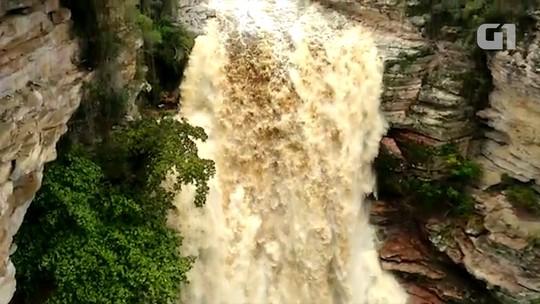 Com chegada da chuva, volume de água em cachoeiras da Chapada Diamantina impressiona; vídeo