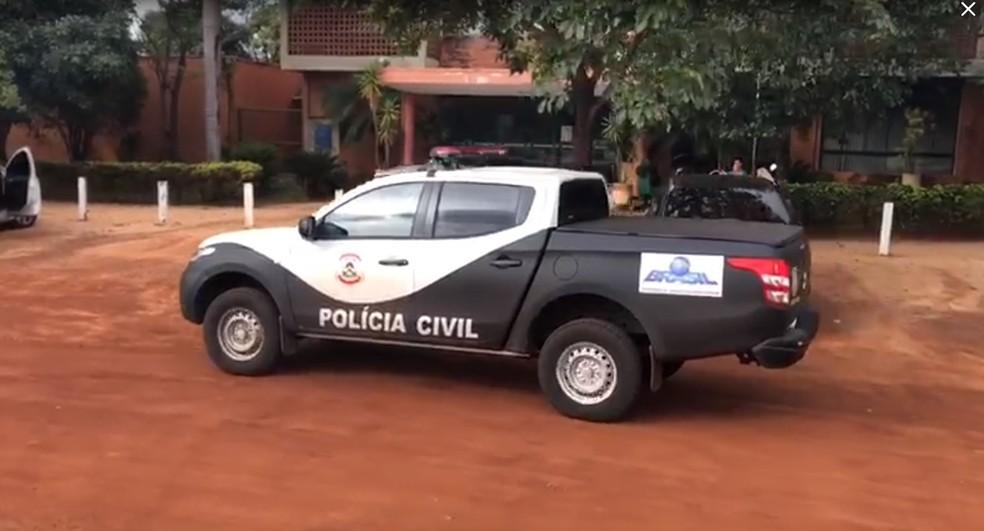 Polícia faz busca e apreensão na sede do Naturatins em Palmas — Foto: Reprodução/Lucas Ferreira