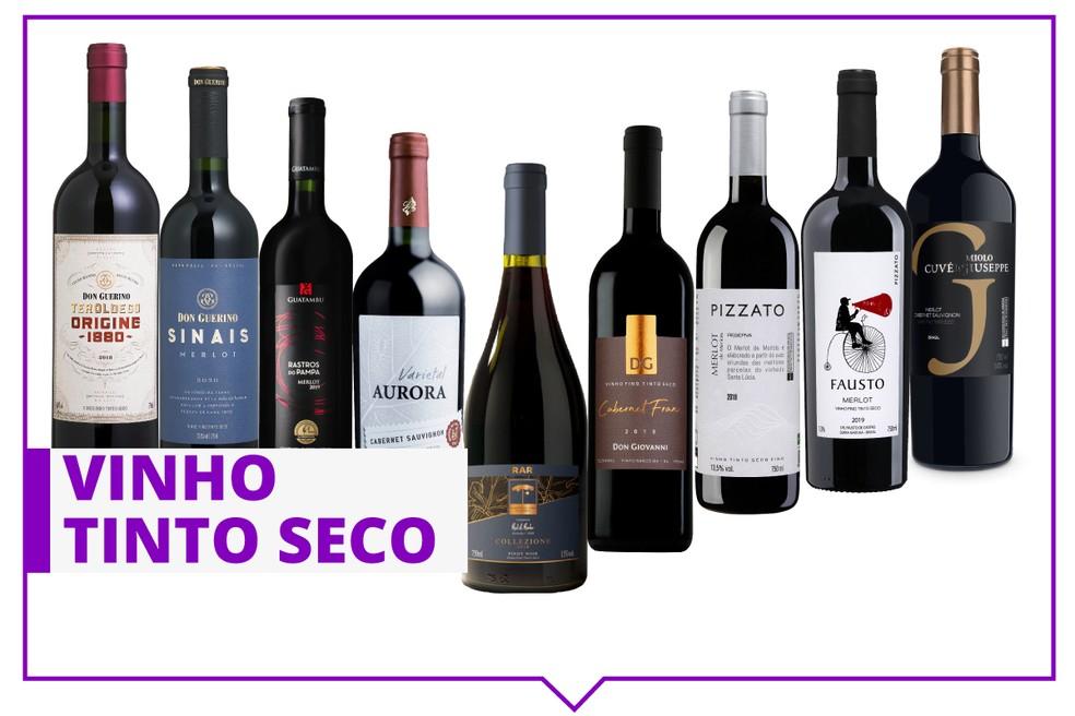 Especialistas indicam 9 tintos secos para quem quer começar a apreciar vinho. — Foto: Divulgação.