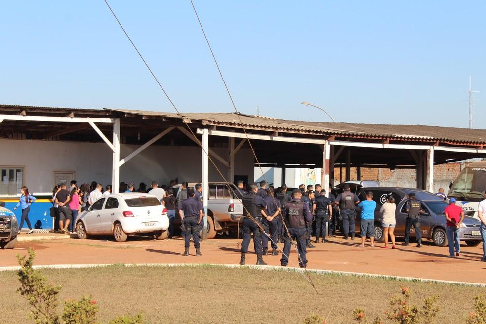Velório do sargento é feito no 6º BPM em Guajará-Mirim (Foto: Júnior Freitas / G1 RO )